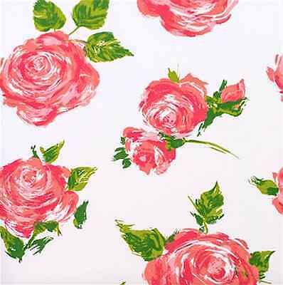 Pink Cottage Rose Gift Wrap Tissue Paper 10 Printed, Patterned Sheets