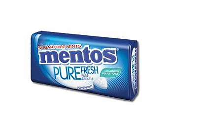 2 Tins of Mentos Pure Fresh Sugarfree Mints in Peppermint Flavour
