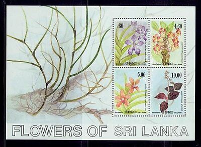 sri lanka/1984 flowers of sri  lanka-orchids s/s / mnh.good condition