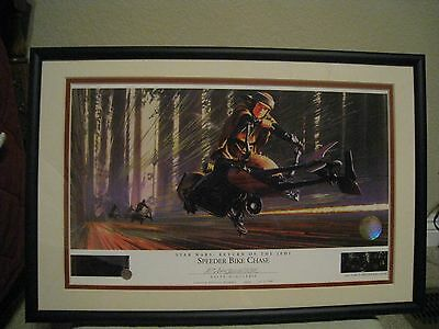 SPEEDER BIKE CHASE #1067 STAR WARS  Ralph McQuarrie signed Lithograph