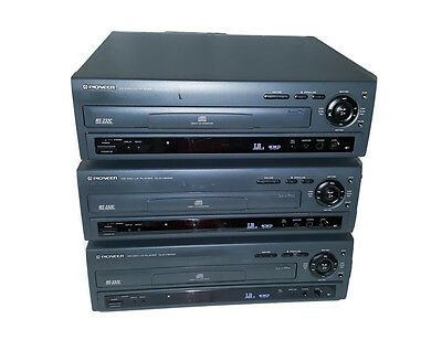 Lot of 3 Pioneer CLD-V5000 LaserDisc Players CD VCD LD for Parts Free Shipping
