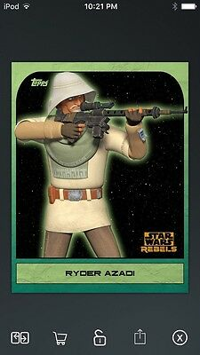 Topps Star Wars Digital Card Trader Green Rebels: Retro Ryder Azadi Insert