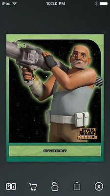 Topps Star Wars Digital Card Trader Green Rebels: Retro Gregor Insert
