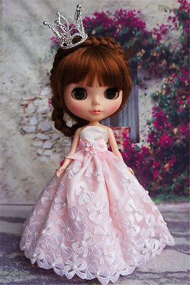 Cute Handmade Blythe Doll Outfit Blythe Dress Pullip Dress Doll Crown