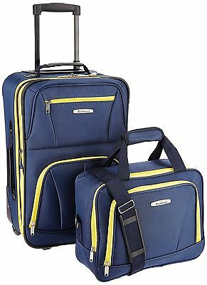 ROCKLAND Luggage 2-Piece Set Navy One Size