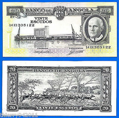 Angola 20 Escudos 1962 Animal Port Silo FREE Shipping Worldwide Skrill Paypal