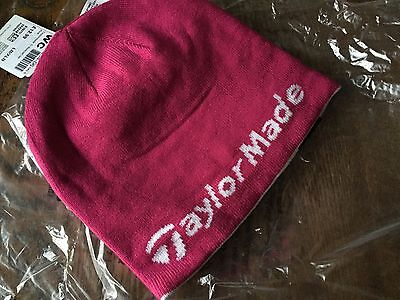 Taylor Made bright Pink Golf beanie brand new