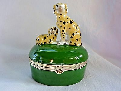 Staffordshire Spotted Dogs Style Porcelain Trinket Box