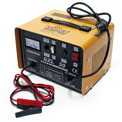Car Van Battery Charger 12V 24V Portable 16A Boost Motorcycle Motorhome Truck