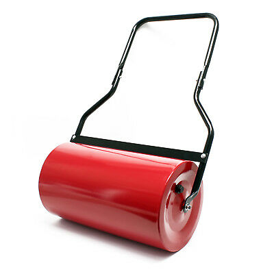 Lawn roller 12.6x22.4 inches (32x57cm) water/sand filled 45l with dirt wiper