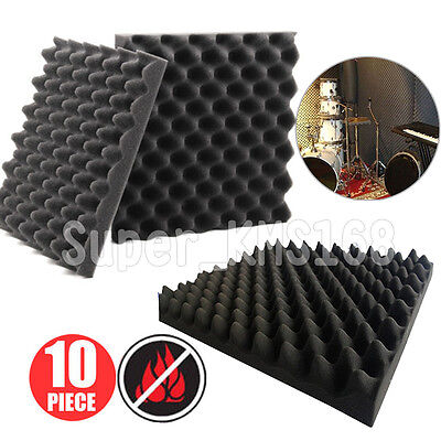 10Pack Acoustic Foam Egg Panels Tiles Studio Sound Proofing Treatment Absorption