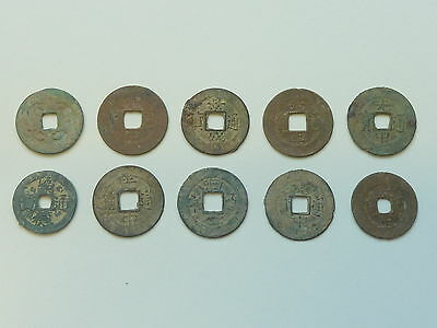 5 Sets Of 10 Ancient Chinese Coins Shipwreck Hoard