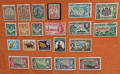 British Colonies Southern Northern Rhodesia  14 Mlh* & 4 Used 1 Perfin Rare Spl