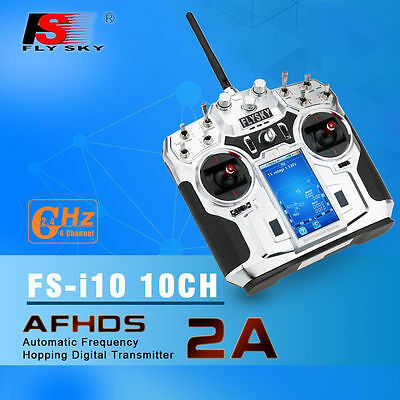 FS-i10 Flysky 10CH 2.4GHz Transmitter Touch Screen RC Controller+iA10 Receiver