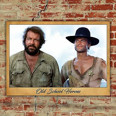 Poster Bud Spencer & Terence Hill - Old School Heroes - Size: 50x70 CM