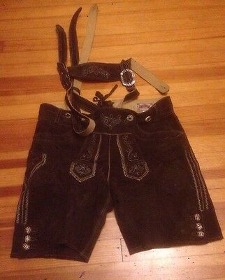 Stockerpoint Leather Shorts trousers brown  short. Size 48