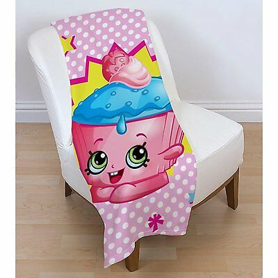 EXTRA LARGE - Shopkins Super Soft and Fluffy Fleece Blanket Sofa Bed Throw Kids
