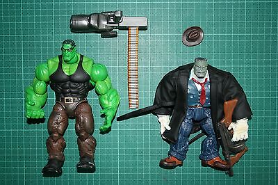 Marvel Legends Hulk Classics Joe Fixit Smart Hulk Complete Two Pack Loose Toybiz