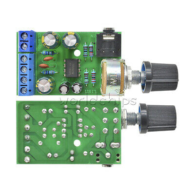 DC 1.8-12V TDA2822M Amplifier 2 Channels Stereo 3.5mm Audio Amp Board Module New