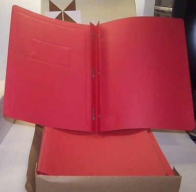 40) New Duo Tang Covers Border & Panel Cover Red Report Cover 51258-58 Lot 40