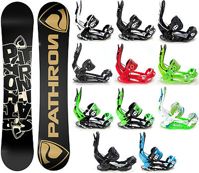 Snowboard Pathron Scratch Carbon + Raven, Pathron oder Rage Fastec Bindung -Neu!
