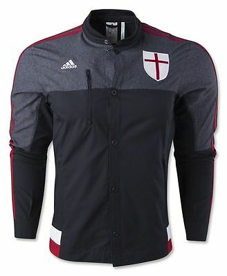 AC Milan 2015-2016 Adidas Adults Anthem Jacket RRP £60 L, XL, 2XL BNWT
