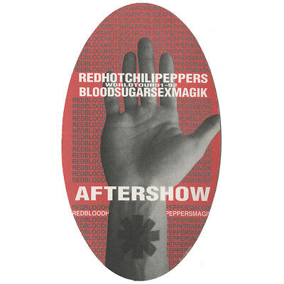 Red Hot Chili Peppers authentic Aftershow 1991-1993 tour Backstage Pass