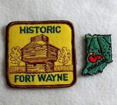 Indiana Historic Fort Wayne State Souvenir - Iron on Patch / Applique
