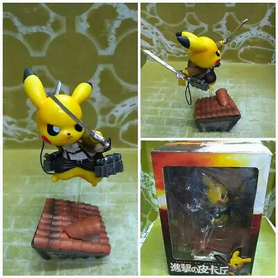Pokemon cosplay Pikachu X Attack on Titan Anime 4in. figure toy gift new in box