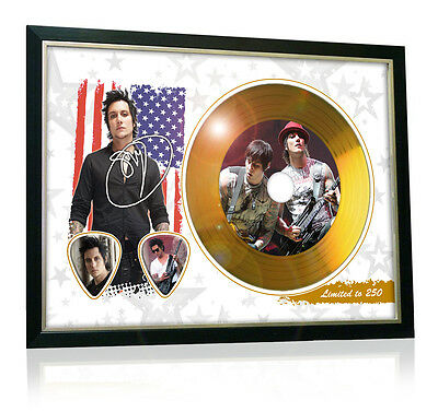 Synyster Gates Avenged Sevenfold Flag Style Signed Gold Disc Display
