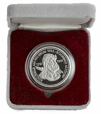 1988 - 1oz Platinum Swiss Shooting Thaler (William Tell) Coin .999 Fine