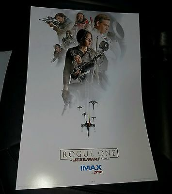 Star Wars Rogue One Amc Stubs Promo Imax Posters (3 Of 3)