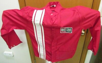 Vintage Racing Jacket Champion Spark Plugs Swingster AHRA NHRA NASCAR INDY 500