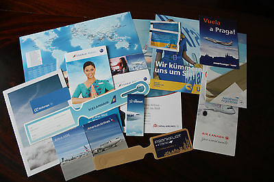 Set Marketing Material Air Canada China Airlines Srilankan Air Europa Ukraine