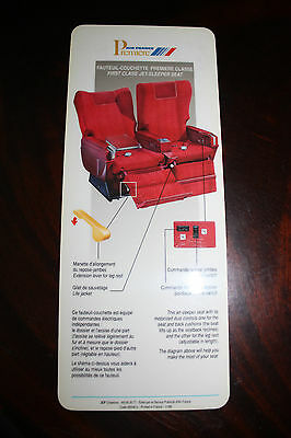 Seat Guide Air France Premiere First Class Jet-Sleeper Seat From 1989