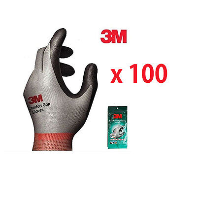3M Nitrile Foam Coated Comfort Gloves Electrical and Maintenance Work 100 Pairs