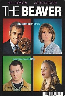 """The Beaver Movie Placard from Video Rental Store 5.5"""" x 8"""" Jodie Foster"""