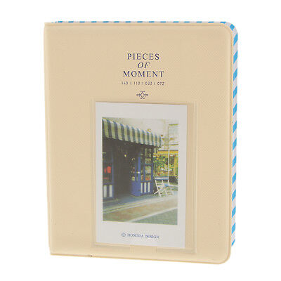 84 Pockets Photo Album For FujiFilm Instax Mini Polaroid Fuji Film Ivory