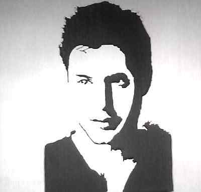 Wood cut out Portrait of dean from supernatural