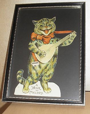 Framed And Glazed Louis Wain Vintage Cat Picture
