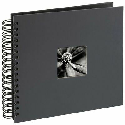 Fine Art Spiralbound Photo Album, 28cm x 24cm 50 Pages - Grey