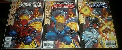 Lot of 3 spiderman variants! Amazing spider man 525, Friendly spider-man 2 and 3