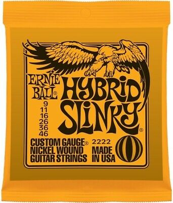 Ernie Ball 2222 Hybrid Slinky Electric Guitar Strings, 9-46