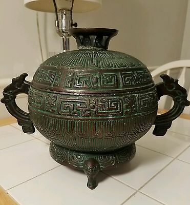 Chinese Vintage  Ice bucket James Mont Style Hollywood Regency MID CENTURY