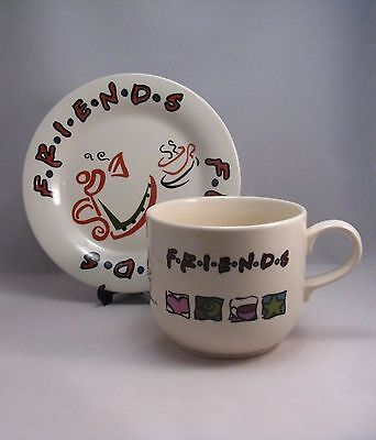 Collectable Friends TV Show Large Cup and Side Plate  1999