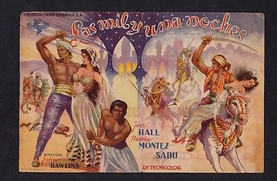 Ali Baba & The Forty Thieves (1944) Double Dspanish Movie Herald / Mini Poster!