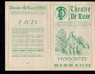 Hypocrites (1915) Silent Film Herald - Early & Scarce!