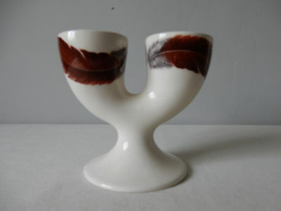 Very Attractive Collectable Vintage Double Egg Cup by SylvaC Feather Design VGC