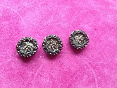 Antique Victorian French Jet Glass Buttons - Lot 8