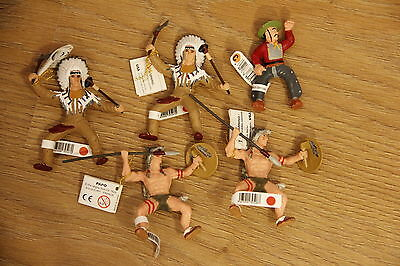 5x Bullyland cowboys and indians brand new with lables